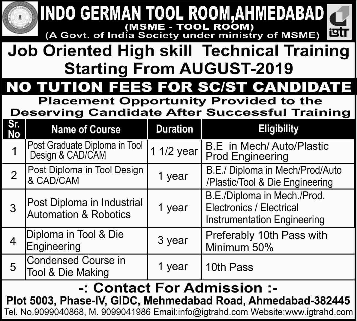 Indo German Tool Room - Ahmedabad